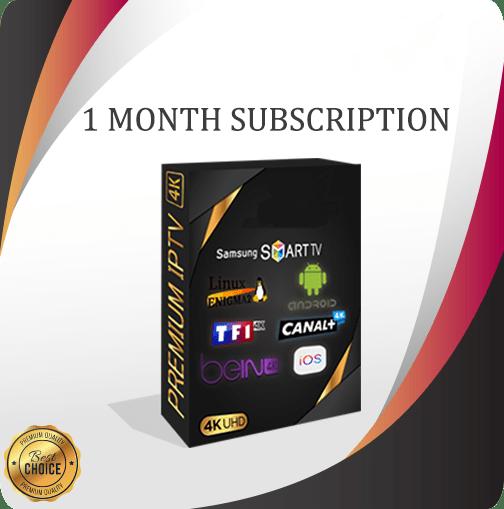 1 Month IPTV